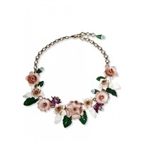 Dolce & Gabbana Flower Necklace - Statement Necklace - ShopBAZAAR
