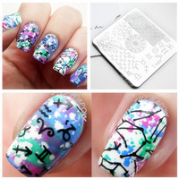 New 1 Pc Special Character Symbol Zodiac Themed Nail Art Stamping Template Image Plate Y020 6cm