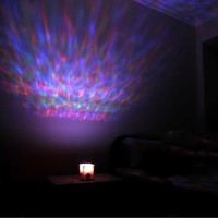 LOCOMOLIFE LED Color Changing Aurora Ocean Projector Pot Mood Lamp Night Light Soothing Relaxing
