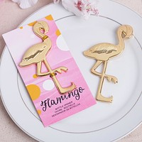 Gold Metal Flamingo Bottle Wine Beer Opener Anniversary Favors Gifts Wedding Party Kitchen Bar