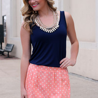 Time After Time Tank - Navy