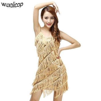 Women 1920s Vintage Great Gatsby Party Sequin Dress Sexy V-Neck Summer Dress Gold Fringe Dress Flapper Costumes