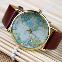 Latest new Marine map watches, map of the world watches, men and women all appropriate watches, unique watch, Christmas gifts