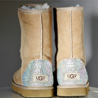 Classic Short UGG Sheepskin Boots with Swarovski Crystal Embellishment for Toddler and Kids Sizes - Winter/Holiday 2013