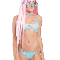 Minty Iridecent Intimates Set
