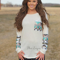 Sequin Sleeves Ivory PLUS