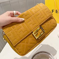 Fendi New fashion more letter leather shoulder bag crossbody bag