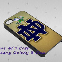 Notre Dame Fighting Irish cover case for iphone case, Samsung Galaxy Case, iPod Case, HTC Case, Blackberry Case, Sony Case