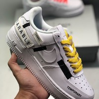 "Nike Air Force 1""Swoosh Temporary Wearable"" cheap Men's and women's nike shoes"