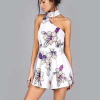 Asymmetric Floral Rompers
