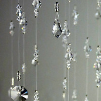 Nursery Decor Baby Room Idea Baby Girl Mobile Crystal Baby Mobile Babyshower Gift Hanging Crystal Garland Swarovski Crystal Chandelier