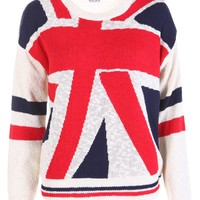 Union Jack Knitted Jumper - Womens Clothing Sale, Womens Fashion, Cheap Clothes Online | Miss Rebel