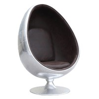 Restro Aviator Egg Chair, Brown