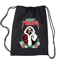 Merry Yeezus Ugly Christmas Drawstring Backpack