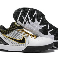 Nike Zoom Kobe 4 IV - White/Black/Yellow