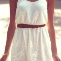 White Cowgirl Summer Dress | Elusive Cowgirl