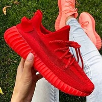Adidas Yeezy Boost 350 V2 Women Men Sports Sneakers Fashion running shoes Red