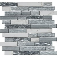 MS International Whistler Ice Interlocking 11.81 in. x 12 in. x 8 mm Glass Mesh-Mounted Mosaic Tile (9.7 sq. ft. / case)-GLSPIL-WHISTIC8 - The Home Depot