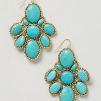 Turquoise Sonation Drops by Anthropologie Turquoise One Size Earrings
