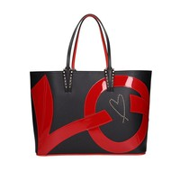 PVC Cabata Leather Tote Bag by Christian Louboutin