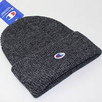 Champion Men's Knit Hat hip hop skateboard hat Dark gray