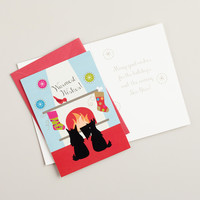 Scottie Dogs with Fireplace Boxed Holiday Cards, Set of 15