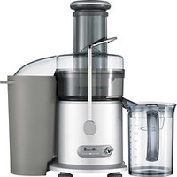 Breville - Juice Fountain Plus Electric Juicer - Silver