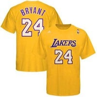 Kobe Bryant Los Angeles Lakers adidas Net Number T-Shirt ¨C Gold