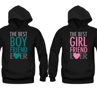 The Best Boyfriend Ever - The Best Girlfriend Ever Unisex Couple Matching Hoodies
