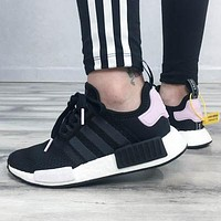 Adidas NMD men's and women's casual wild soft bottom breathable running shoes
