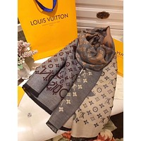 LV Louis Vuitton autumn and winter new classic print pattern shawl big square scarf