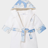 Young Versace Printed Bathrobe for New Born | US Online Store