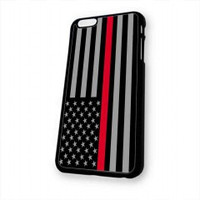 Thin Red Line Flag for iphone 6 case