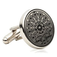 Boston Manhole Cover Cufflinks ©-CLI-CC-BOS-SL