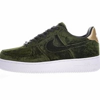"Nike Air Force 1 '07 Low Velvet ""Green""896185-300"