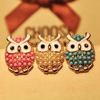 ONETOW cute owl earrings