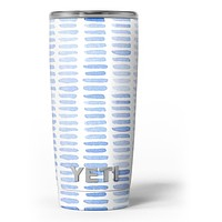 Blue Watercolor Brush Strokes - Skin Decal Vinyl Wrap Kit compatible with the Yeti Rambler Cooler Tumbler Cups