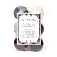 DARK SERIES SAMPLER, Soy Blend Tea Lights Pack, Midnight, London 1888, The Ghost Club, Nightmare, The Black Death, Witch Hunt, Gothic Sample
