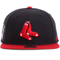 Boston Red Sox Two Tone Sure Shot Snapback Hat Navy / Red