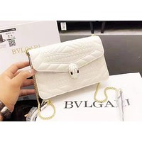 Bulgari New Joker Casual Embroidered Chain Bag Shoulder Crossbody Bag