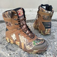 Men Camouflage Hiking Shoes Water Proof Hiking Boots Anti Skid Camping Tactical Boots Military Trekking Hunting Tactical Shoes