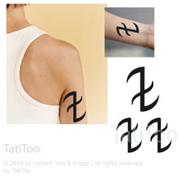 Runes, deflect, city of bones - Temporary Tattoo T201