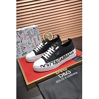 D&G  Men Fashion Boots fashionable Casual leather Breathable Sneakers Running Shoes0528em