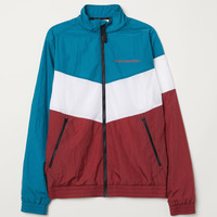 Nylon Sports Jacket - Turquoise/multicolored - Men | H&M US