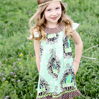 Flutter Sleeve Dress..Girls Dresses