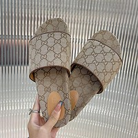 GG summer new men's and women's double G slippers shoes