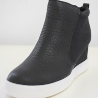 Coco Sneaker Wedges - Black