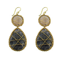 Panacea Wire Wrapped Genuine Stone Drop Earrings | Dillards