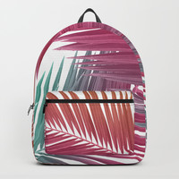 Gradient Palm Leaves Backpacks by Urban Exclaim Co.