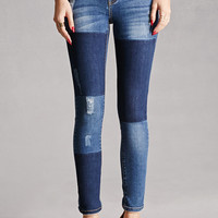 Distressed Colorblock Jeans
